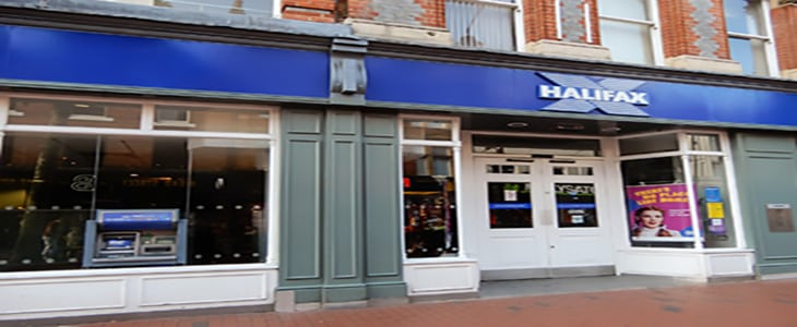 Reading, United Kingdom - June 22 2018: The store frontage of The Halifax bank in Broad St